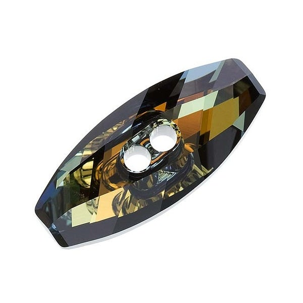 Swarovski Elements Crystal, 3024 Dufflecoat Sew-On Stone Buttons 23mm, 1 Piece, Crystal Tabac