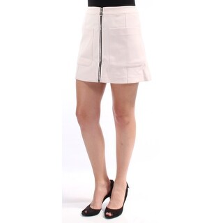 Womens Pink Mini A-Line Wear To Work Skirt Size 4