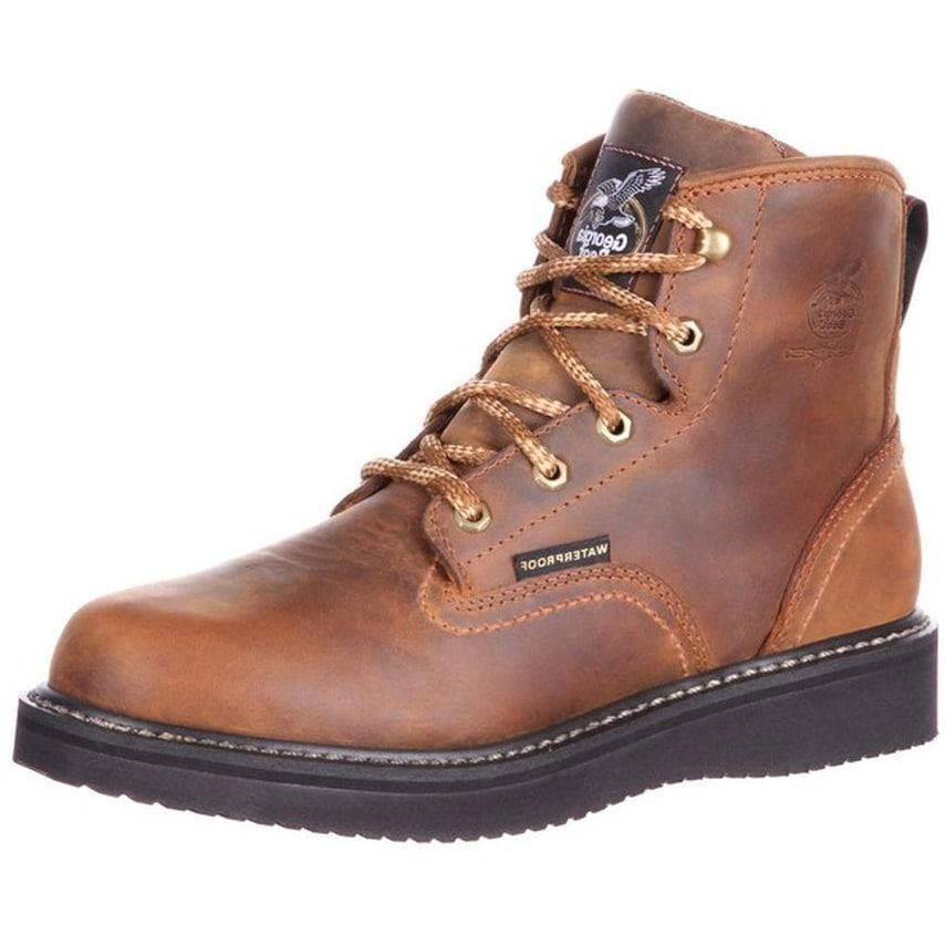 Georgia Boot Work Mens Waterproof Wedge Goodyear Welt Brown GB00124