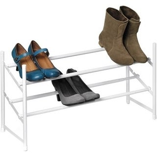 Honey-can-do SHO-01167 Honey-can-do SHO-01167 2-Tier Expandable Stackable Shoe Rack, White - 2 Tier(s) - 9.1 Height x