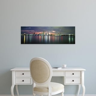 Easy Art Prints Panoramic Images's 'USA, Florida, Miami' Premium Canvas Art