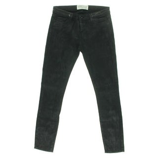 Each x Other Womens Skinny Jeans Coated Mid-Rise