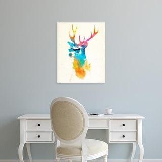 Easy Art Prints Robert Farkas's 'Sunny Stag' Premium Canvas Art