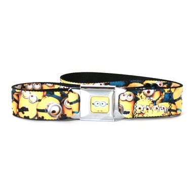 Despicable Me Minions Close Up Seatbelt Belt-Holds Pants Up