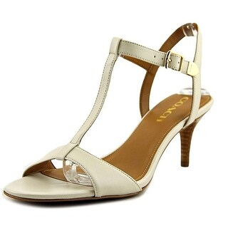 Coach Womens melodie Open Toe Ankle Strap Classic Pumps