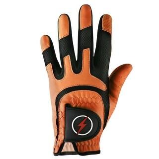 Powerbilt One-Fit Adult Golf Glove - Mens LH Orange/Black