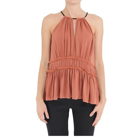 Clinq A Sept Blush Lotus Halter Top L