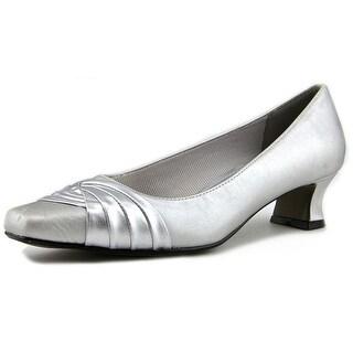 Easy Street Tidal N/S Square Toe Canvas Heels