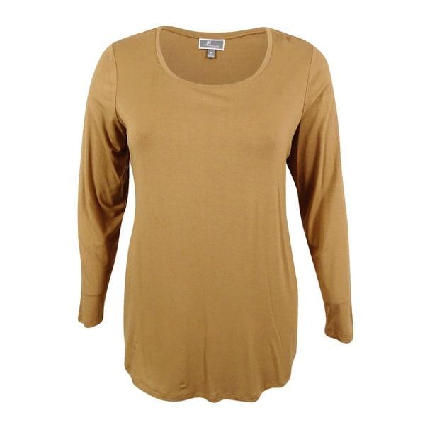 JM Collection Women's Plus Size Scoop-Neck Swing Top