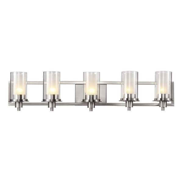 Trans Globe Lighting 20045 5-Light Bathroom Fixture from the Modern Meets Traditional Collection - Brushed nickel