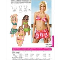Swimsuit and Wrap-XS-S-M-L-XL -*SEWING PATTERN*