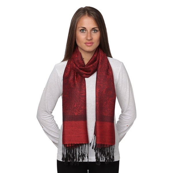 Fashion Scarf for Women Classic Long Range Shawl Wrap Solid Pashmina Silk Scarf