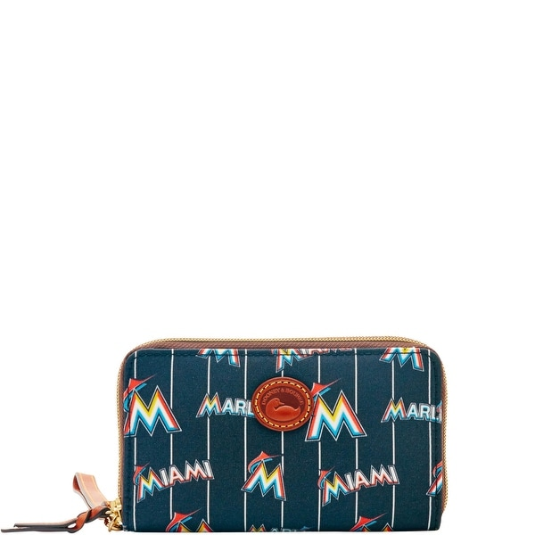 Dooney & Bourke MLB Marlins Zip Around Phone Wristlet (Introduced by Dooney & Bourke at $118 in Mar 2016)