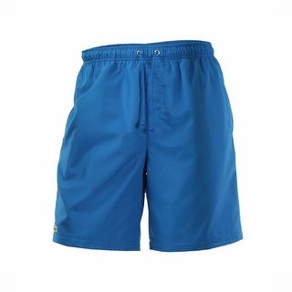 Lacoste NEW Blue Mens EU 7 US 2XL Athletic Golf Drawstring Solid Shorts