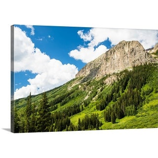 """""""Scenic view of trees on mountain, Crested Butte, Colorado"""" Canvas Wall Art"""