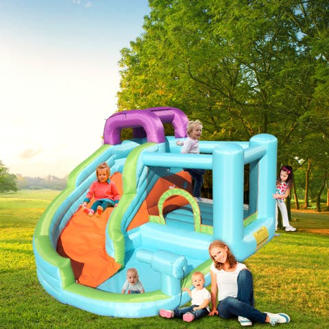 Inflatable Bounce House, Slide Bouncer with Pool Area ,Climbing Wall