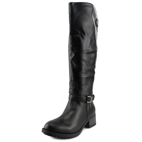 Rampage Womens IMELDA Leather Round Toe Knee High Riding Boots