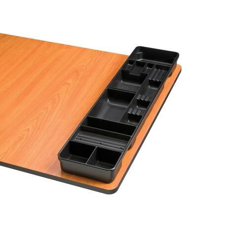 Alvin tt599-2 black table and desktop storage tray