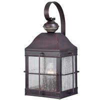 """Vaxcel Lighting T0193 Revere 19"""" Tall Single Light Photocell and Motion Sensor Outdoor Wall Sconce"""