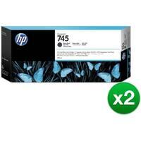 HP 745 300-ml DesignJet Matte Black Ink Cartridge (F9K05A)(2-Pack)