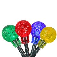 Set of 240 Multi-Color LED G20 Globe Christmas Lights - Green Wire - multi