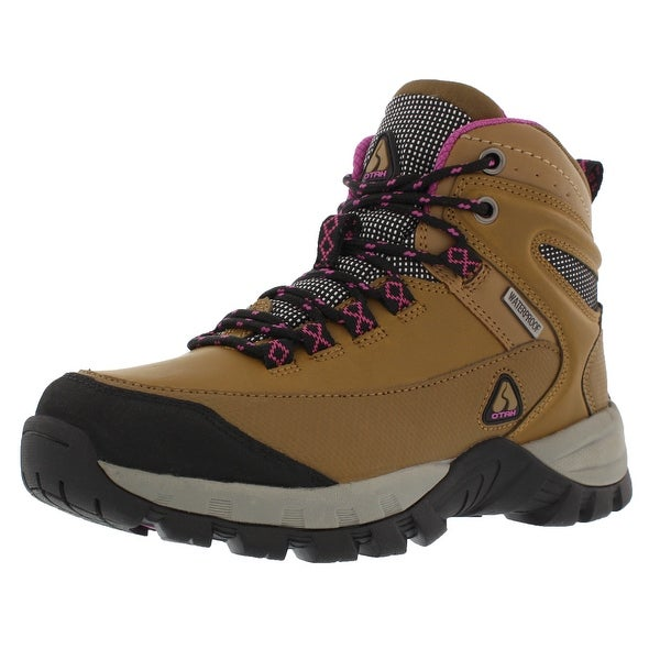 OTAH Forestier Women's Waterproof Hiking Mid-Cut Camel/Purple Boots