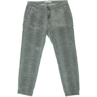 Zara Basic Womens Flocked Snake Print Skinny Jeans - 8
