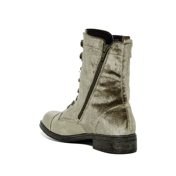 Report Womens Huey Fabric Closed Toe Mid-Calf Fashion Boots, Olive, Size 7.0