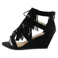 Material Girl Womens Hannah Leather Open Toe Special Occasion Platform Sandals