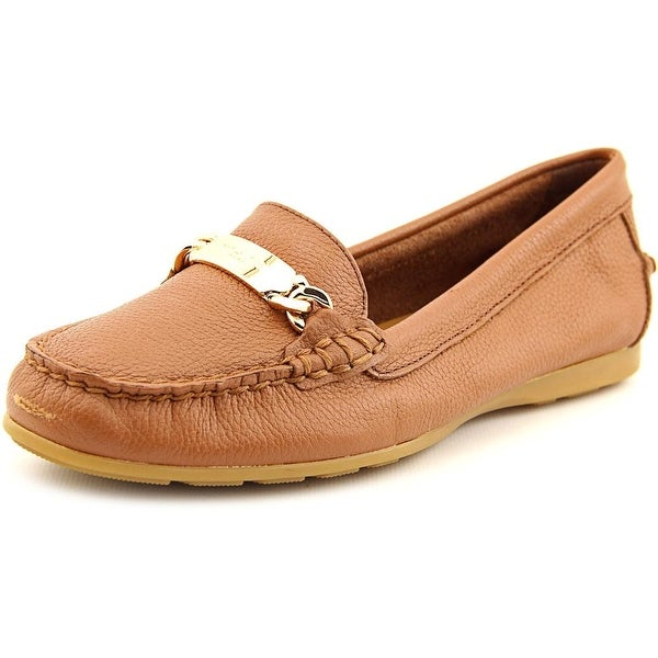 b8d23ad76f6 Shop Coach Olive Women Round Toe Leather Brown Loafer - Free ...