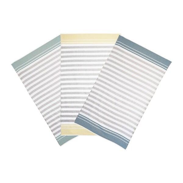 Vera Wang Awning Stripe 2 Piece Cotton Beach Towel Set. Opens flyout.