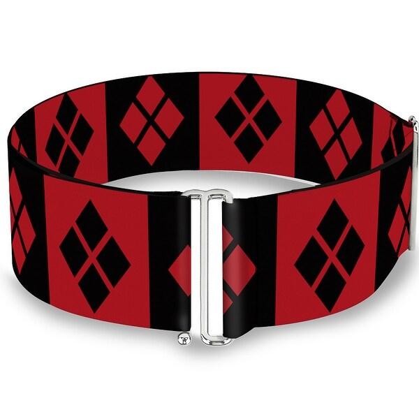 Harley Quinn Diamond Blocks Red Black Red Cinch Waist Belt ONE SIZE
