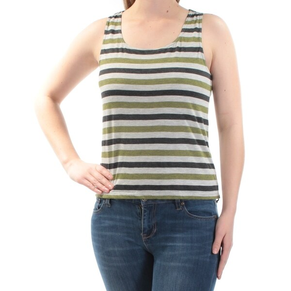 39e039573ae7e0 Shop MAX STUDIO Womens Green Striped Sleeveless Scoop Neck Top Size  S - On  Sale - Free Shipping On Orders Over  45 - Overstock.com - 23450374