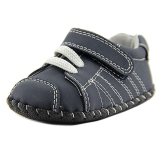 Pediped Jake Infant Round Toe Leather Blue Walking Shoe