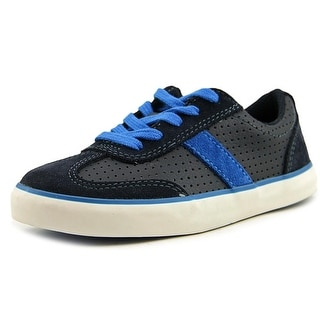 Clarks Club Walk Youth W Round Toe Leather Blue Sneakers