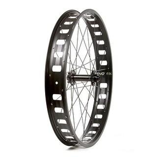 The Wheel Shop Front Fat Bike Wheel - 26 inch, 32H Black Alloy Single Wall JP73 Fat Bike Disc/ Black Novatec D201SB 15x150mm TA