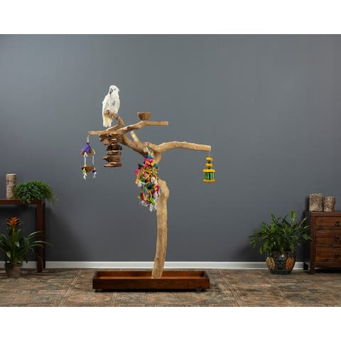 Prevue Pet Products Coffeawood Java Tree Large Floor Playstand