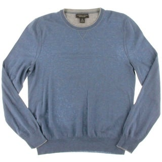 The Men's Store Mens Wool Cashmere Blend Sweater