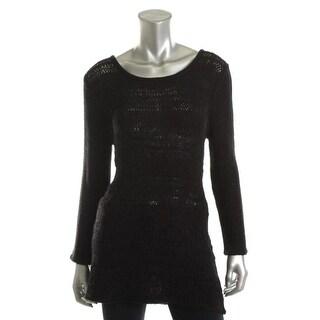 Cupio Womens Stretch Knit Tunic Sweater - XL