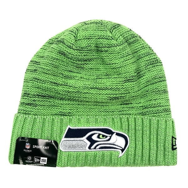 0e1ce8082 New Era Seattle Seahawks Knit Beanie Cap Hat NFL 2017 Color Rush 11461022