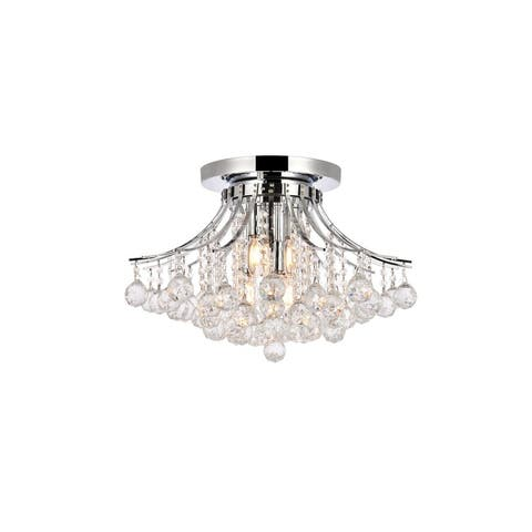 Fleur Illumination 6-light 19-inch Flush-Mount Chandelier - 19 Inch