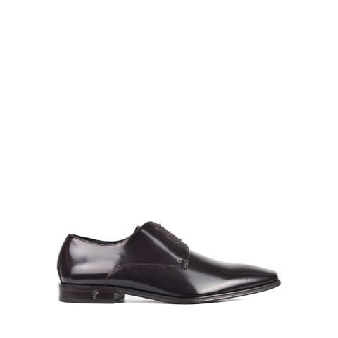 Versace Collection Mens Brown Patent Lace Up Derbys~RTL $895
