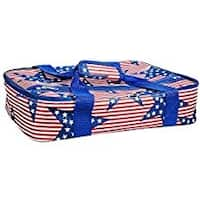 Palais Dinnerware Insulated Casserole Carrier With Zip Closure Attractive Design with Strap and Side Pocket.