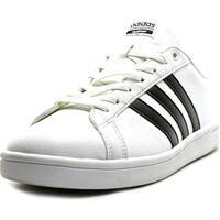 Adidas Cloudfoam Advantage  Women  Round Toe Leather White Sneakers