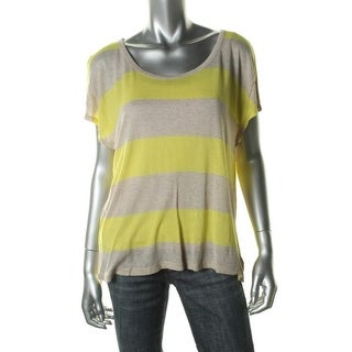Soft Joie Womens Casual Top Striped Short Sleeves - XS