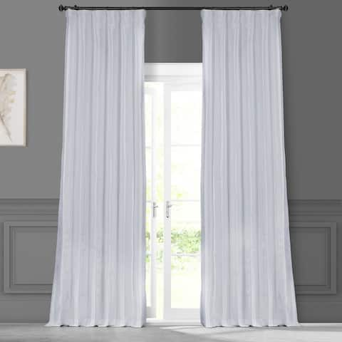 Exclusive Fabrics Signature White Faux Silk Curtain Panel
