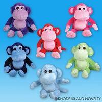 "One Large Plush Stuffed Assorted Color Monkey - 23"""