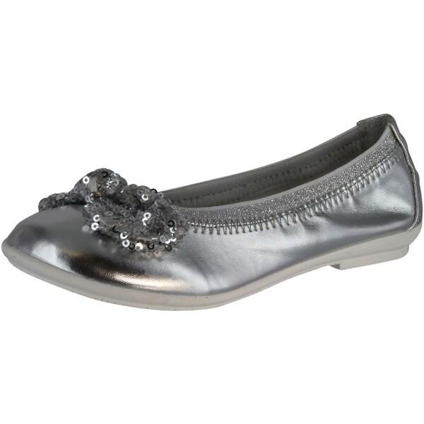 07ed7025 Lelli Kelly Girls Lk4714 Sequins Fashion Flats Shoes - Silver Metallic - 34  m eu /