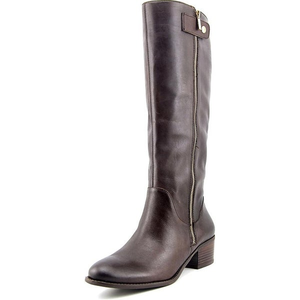Sole Society Bria Women Round Toe Leather Brown Knee High Boot