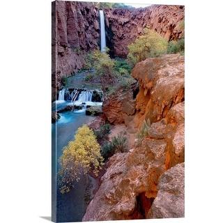 """Red rock cliffs, Havasu Falls, Grand Canyon National Park, Arizona"" Canvas Wall Art"